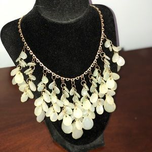 Raindrop statement necklace